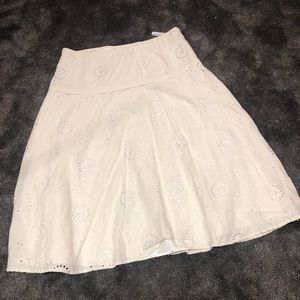 Pretty lace eyelet skirt